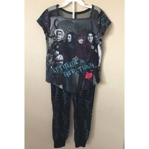 Disney Descendants Short Sleeve Jogger Pajamas Set